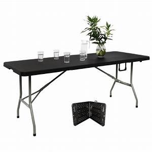 Table Pliante Noire : table pliante au centre poly thyl ne noire 180cm harik ~ Teatrodelosmanantiales.com Idées de Décoration