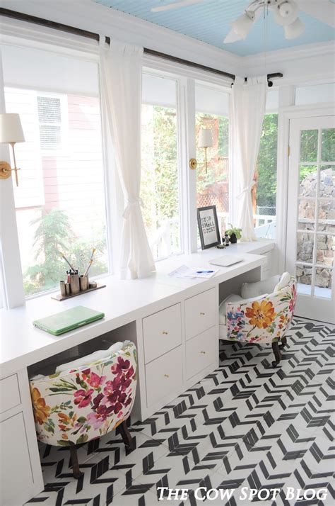 sunroom office the cow spot sunroom turned home office reveal