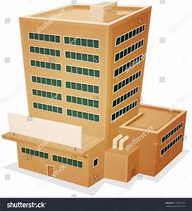 Factory Building Illustration Cartoon Administrative ...