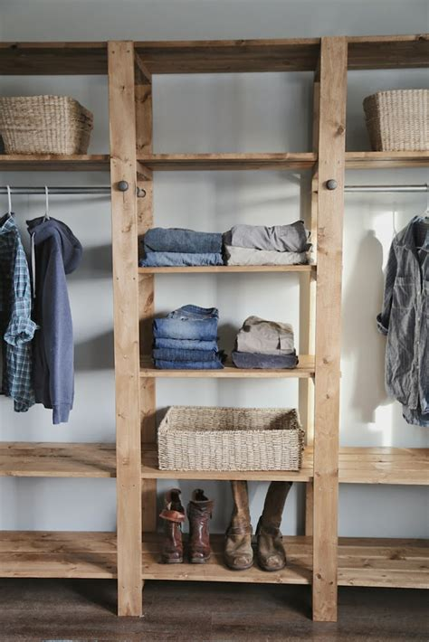 how to build a closet system diy industrial style wood slat closet system with