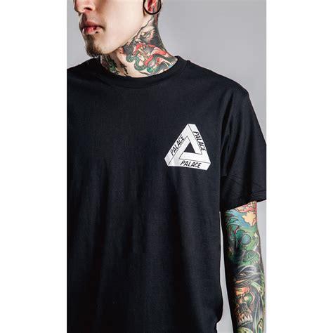kaos katun pria triangle palace o neck size s t shirt