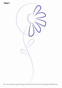 Learn How to Draw a Flower for Kids (Flowers) Step by Step ...