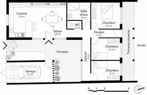 Plan Maison U : plan maison moderne de plain pied ooreka ~ Dallasstarsshop.com Idées de Décoration