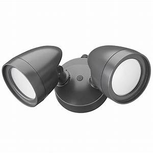 All Pro Led Dusk To Dawn Security Light Defiant 2 Head Dark Bronze Outdoor Integrated Led Security
