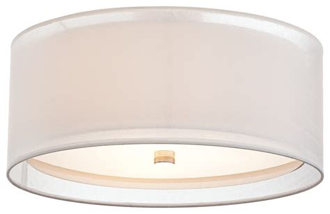 drum 18 quot wide white ceiling light contemporary