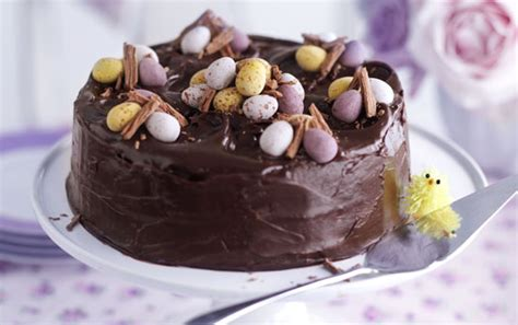 easter chocolate fudge cake recipe goodtoknow
