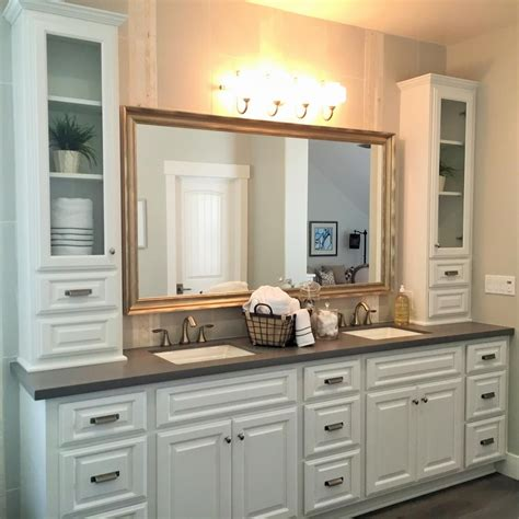master bathroom vanity ideas transitional master bathroom features large white vanity