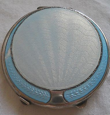 Vintage Art Deco Enamel Compact Powder