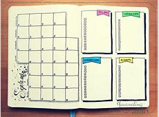 20 idées de mises en page pour votre Bullet Journal