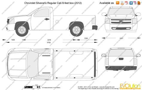 Silverado Bed Sizes by The Blueprints Vector Drawing Chevrolet Silverado