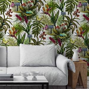 glasshouse tropical botanical print wallpaper by terrarium ...
