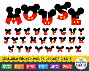 mickey font svg letters with mickey mouse ears svg disney With mickey mouse alphabet letters