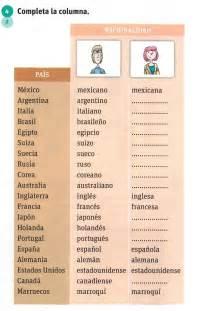 Spanish Nationalities Worksheet