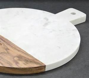 Planche À Découper Marbre : planche d couper ronde en marbre et bois stonemen a ~ Melissatoandfro.com Idées de Décoration