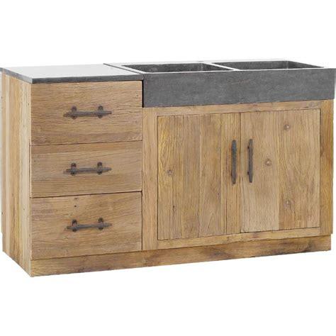 meuble de cuisine avec éviers 144x56 5x83 5cm combloux