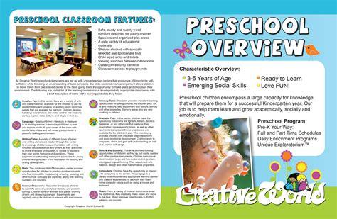 Preschool Brochure Template by Preschool Brochure Sles Best Professional Templates