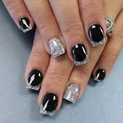 Download black silver simple nail designs design