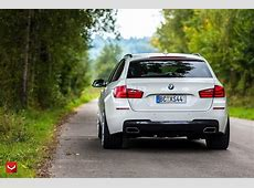 White BMW 5Series Touring Puts On 22