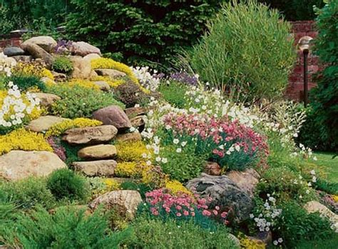 78 ideas about rock flower beds on