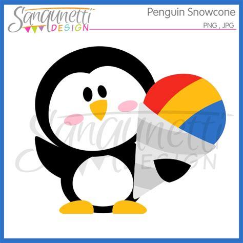 Snow Cone Clip Sanqunetti Design Penguin Snowcone Clipart