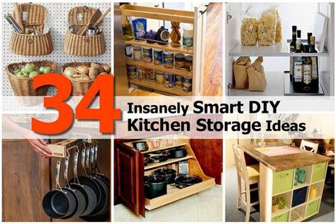 diy kitchen cabinets ideas 34 insanely smart diy kitchen storage ideas