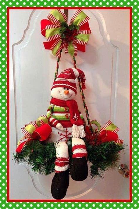 ideas  decoracion  monos de nieve de fieltro tes