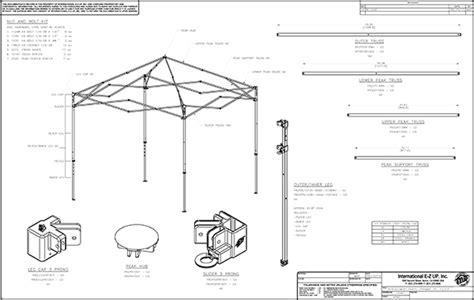 ez  canopy shelter parts