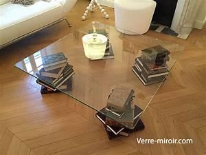 Verre Sur Mesure Pour Table : table basse en verre tremp ~ Dailycaller-alerts.com Idées de Décoration