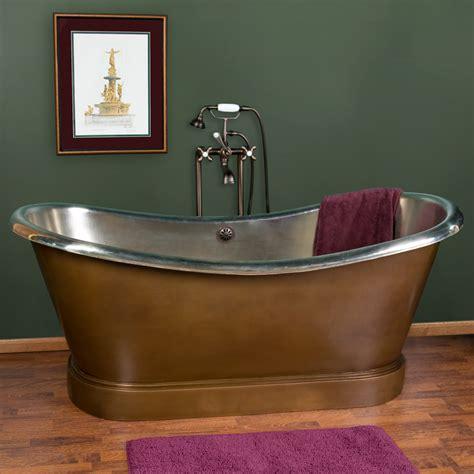 Copper Tub by 66 Quot Larimore Copper Slipper Tub Nickel Interior