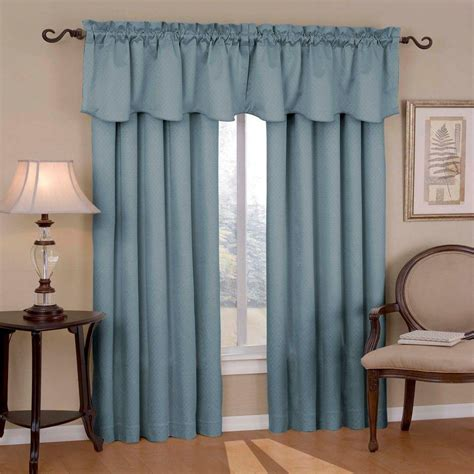 home depot window curtains eclipse canova blackout river blue polyester curtain