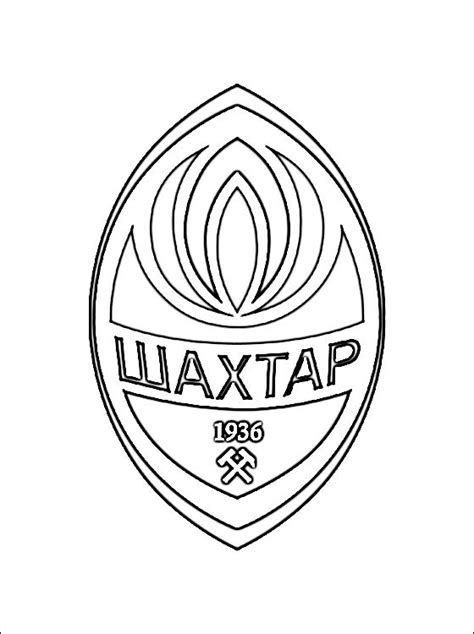 desenho  logo fc shakhtar donetsk desenhos  colorir