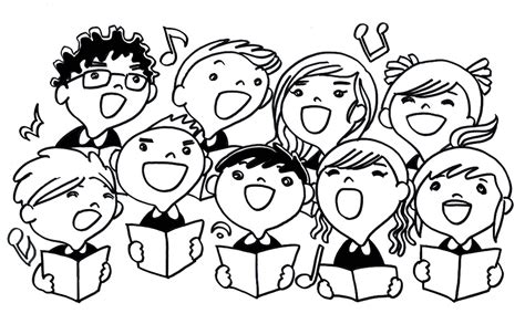children singing clipart black and white free illustration singing children song sing free