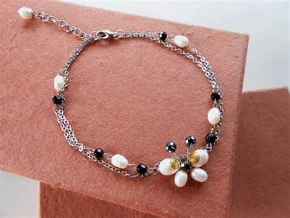 Pearls Silver Chains Freshwater Chain Jewelry Butterfly