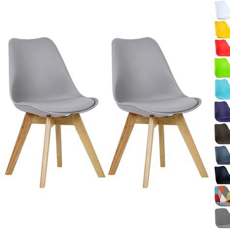 lot de 2 chaise de salle à manger en bois en tissu