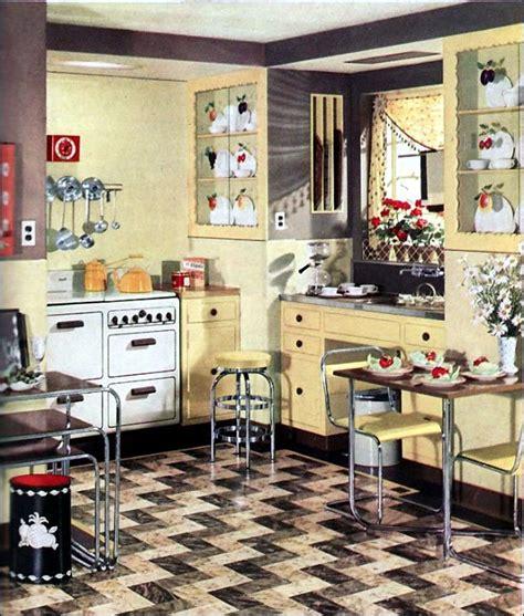 retro kitchen designs retro kitchen design sets and ideas interior design 1934