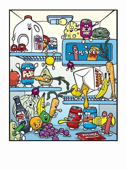 Refrigerator Clipart Dirty Stinky Smelly Bad Fridges