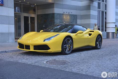 2020 ferrari 488 pista in yellow!!!exterior: Yellow Ferrari 488 GTB perks up Warsaw
