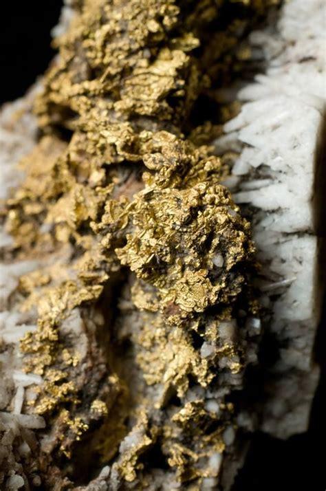 gold veins crystals geodes etc