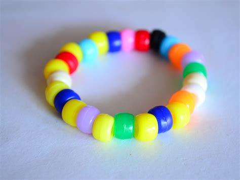 bead bracelet pony patterns plastic bracelets string step steps knot seed wikihow