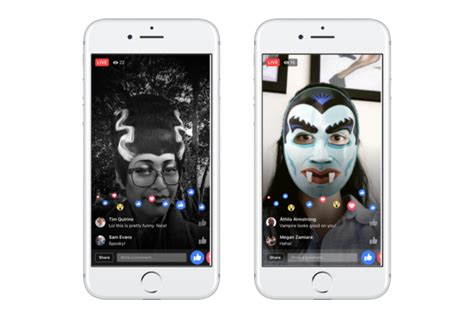 facebook adds  halloween camera effects  games