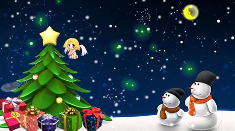 animation of christmas we wish you a merry and happy new year tree with flash animation