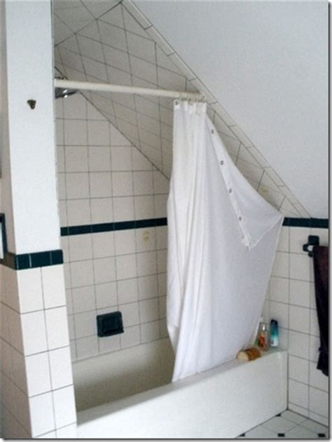 shower curtains for slanted ceilings decorating