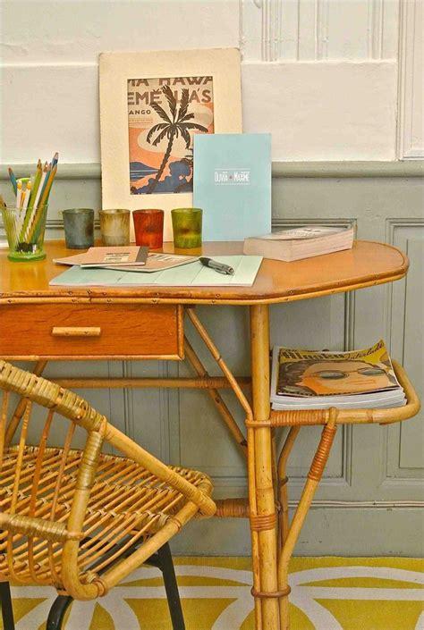 bureau bambou slavia vintage bureau des ées 60 en bambou quot mambo quot e