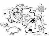 Coloring Treasure Map Pirate Popular sketch template