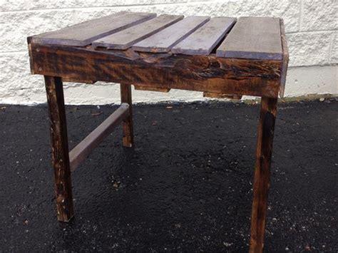 Diy Highly Rustic Pallet Side Table  Wooden Pallet Furniture