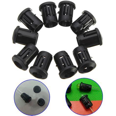 10x 5mm black plastic led bulb clip holder cover cup