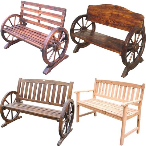 Outdoor Bench Seats by Wooden Garden Bench Seat Burnt Wood Seater Outdoor Park