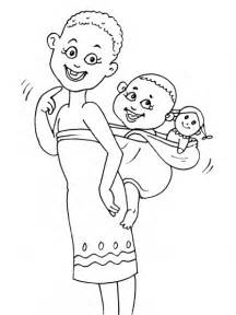 African Theme Coloring Page