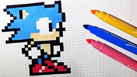 How To Draw Kawaii Sonic #pixelart