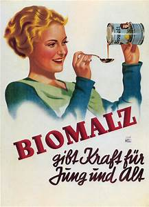 Biomalz Vintage German Poster Advertising